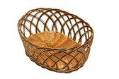 Isolated wattle basket   — Stock Photo