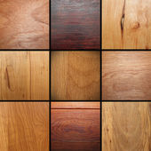 Real wood veneer collage — Stock Photo