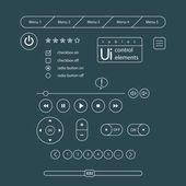 Web UI Elements. — Stock Vector