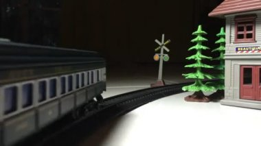 Train toy, time lapse — Stock Video