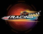 RACING SIGN VECTOR — Stock Vector