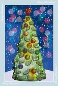 Weihnachten Grußkarte — Stockvektor