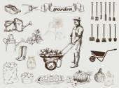Gardening — Stock Vector