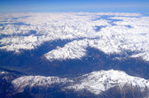 Alps, Austria. Flying over the Alps in Austria. — Foto de Stock