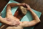 Massagem traseira — Foto Stock