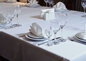 Elegantly decorated table in the restaurant  — Stock Photo