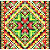 Embroidery. Ukrainian national ornament — Stockvector