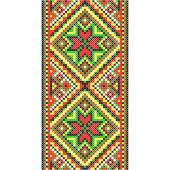 Embroidery. Ukrainian national ornament — Vecteur