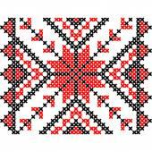 Embroidery. Ukrainian national ornament — Stock Vector