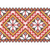 Embroidery. Ukrainian national ornament — Wektor stockowy