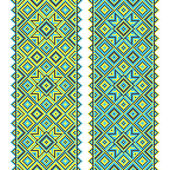 Embroidery. Ukrainian national ornament — Vector de stock