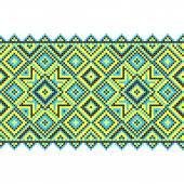 刺繍。ウクライナの国家の装飾 — ストックベクタ