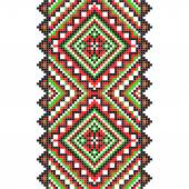Embroidery. Ukrainian national ornament — Vecteur