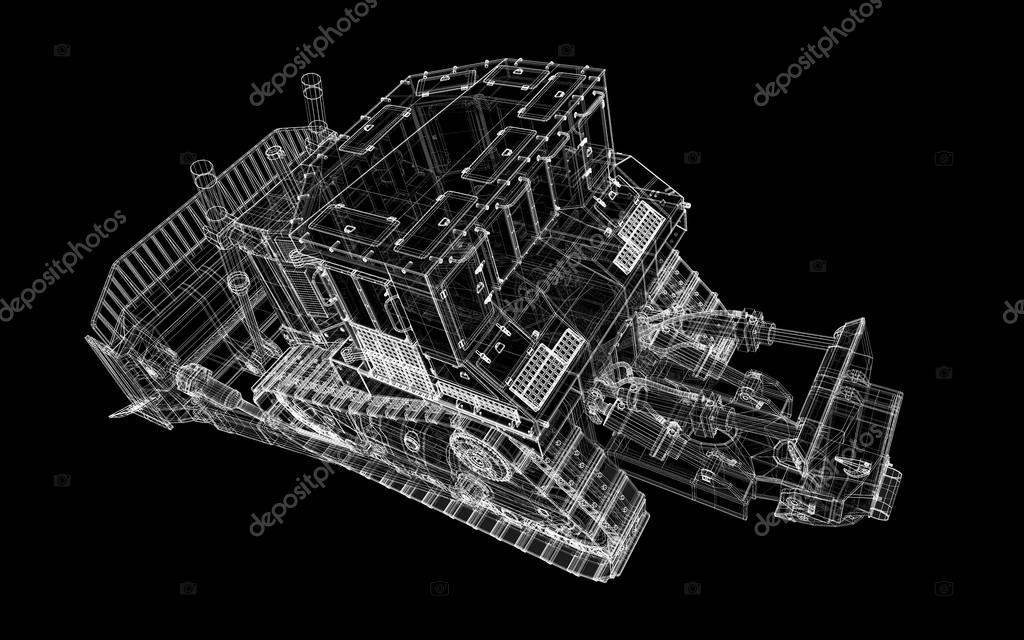 重型设备推土机,车身结构