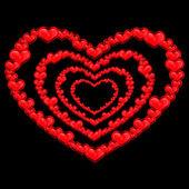 Coeurs rouges — Vecteur