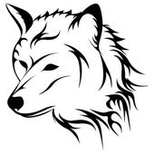 Howling wolf vector illustration — Stock Vector