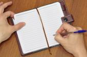 Notebook and pen. — Stock Photo