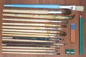 Paint brushes. — Stock Photo