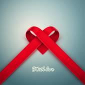 Heart from Ribbon — Stock Vector