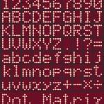 Digital alphabet and numbers, no gradients — Stock Vector #77527116