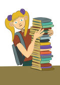 Schoolgirl — Stock Vector