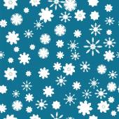 Christmas background of snowflakes — Stock Vector