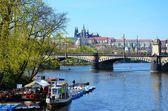River Vltava and Legion bridge, Prague — Fotografia Stock