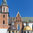 Wawel cathedral on wawel hill in old town of cracow in poland — Stock Photo #53220983