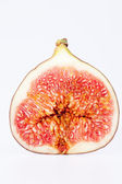 Fruit of sectioned fresh fig isolated on white background — Stock Photo