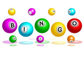 Bingo Balls Text — Vettoriale Stock