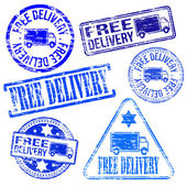 Free Delivery Stamps — Stock Vector
