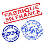 Fabrique En France Rubber Stamps — Vector de stock