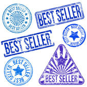 Best Seller Stamps — Stock Vector