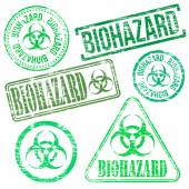 Biohazard Stamps — Stockvektor