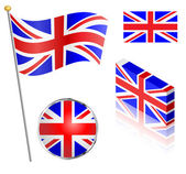 UK Flag Set — Stock Vector