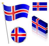 Icelandic Flag Set — Stock Vector