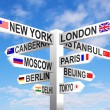 Capital City Signpost — Stock Photo #62339345