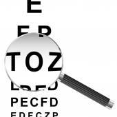 Magnified Eye chart — 图库矢量图片
