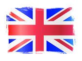 Grungy United Kingdom Flag — Stock Vector