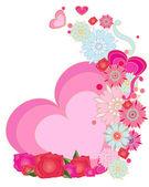 Romantic greeting — Stock Vector