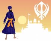 Sikh festival — Stock Vector