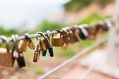 Plenty of master key locked along the wall — Foto de Stock