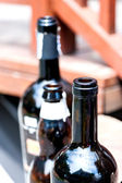 Old Red Wine Bottle blur technic — Stock Photo