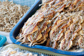 Salted Fish in basket — Stock Photo