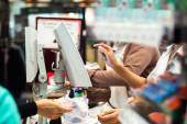 Grocery store checkout — Stock Photo