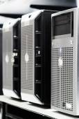 Network servers in data room — Stock Photo