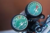 Speedometer motorcycle - old retro classic — Stock Photo