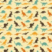 Dinosaur retro pattern background — Vettoriale Stock