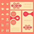 Vector restaurant menu card, banner — Stock Vector #63829411