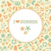 Vector summer background, — Stock Vector
